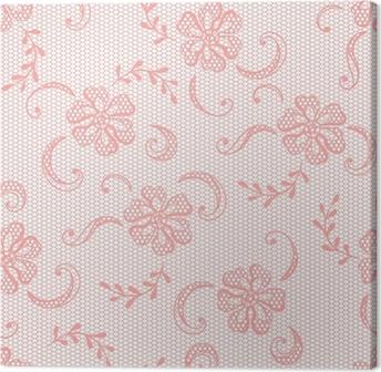 Vintage Lace Background Ornamental Flowers Vector Texture Canvas Print
