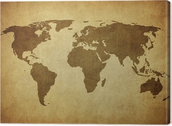 vintage map of the world. Canvas Print
