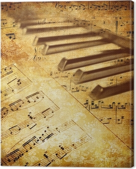 vintage musical background Canvas Print