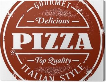 Vintage Pizza Menu Stamp Canvas Print