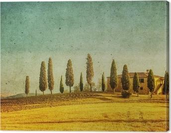 vintage tuscan landscape Canvas Print
