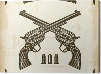 Vintage Western Revolvers Canvas Print