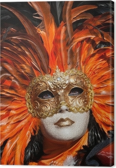 vVenice Carnival Canvas Print