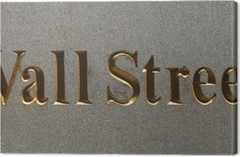 wall street plaque, manhattan, new york city Canvas Print
