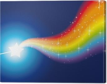 wand rainbow sparkles 2 Canvas Print