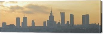 Warsaw sunset panorama Canvas Print
