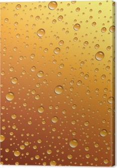 water drops on beer Canvas Print