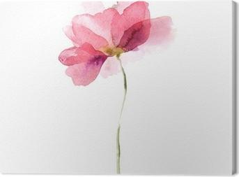 Watercolor flower Canvas Print