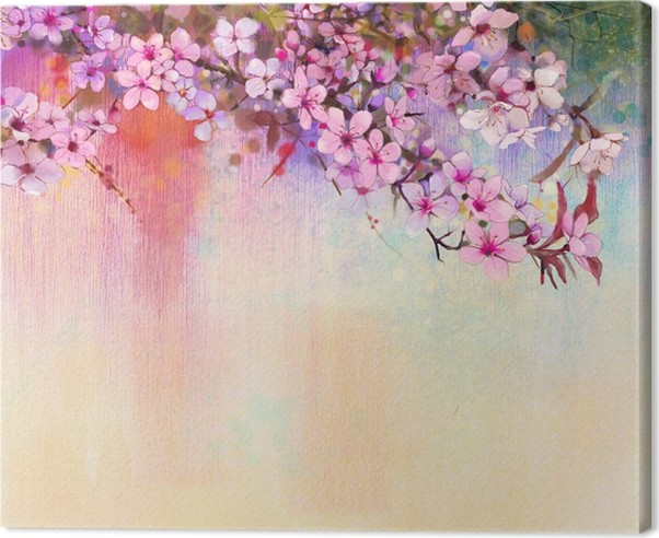 Watercolor painting cherry blossoms japanese cherry pink sakura watercolor painting cherry blossoms japanese cherry pink sakura floral in soft color over blurred nature background spring flower seasonal nature mightylinksfo