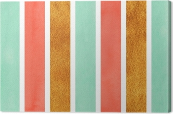 Watercolor striped background. Canvas Print