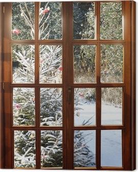 Weichnachten im Schnee Canvas Print
