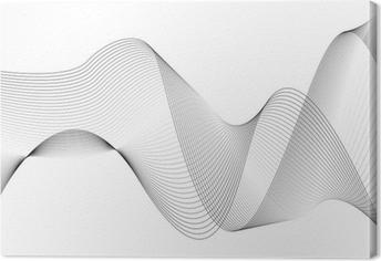 wellen und linien Canvas Print