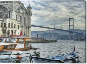 where two continents meet: istanbul Canvas Print