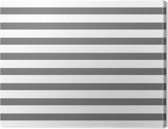 White and gray striped Canvas Print