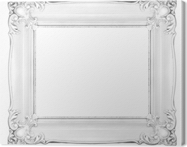 White baroque frame Canvas Print • Pixers® • We live to change