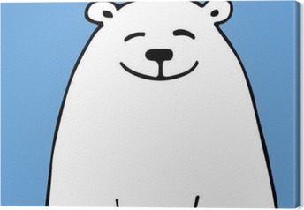 White bear, sketch for your design Canvas Print