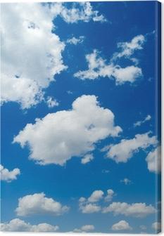 White clouds in the blue sky. Cloudscape Canvas Print
