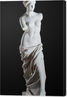 "White marble classic statue ""Aphrodite of Milos"" isolated Canvas Print"