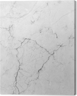 White marble with natural pattern. Canvas Print