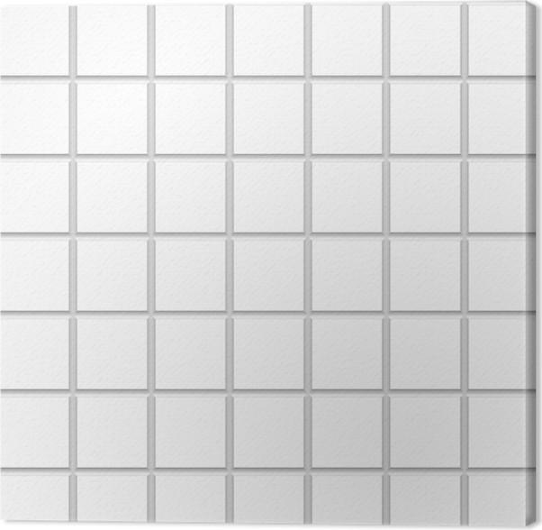 White Square Ceramic Tiles Texture Canvas Print