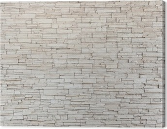 White Stone Tile Texture Brick Wall Canvas Print