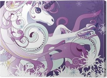 White unicorn Canvas Print