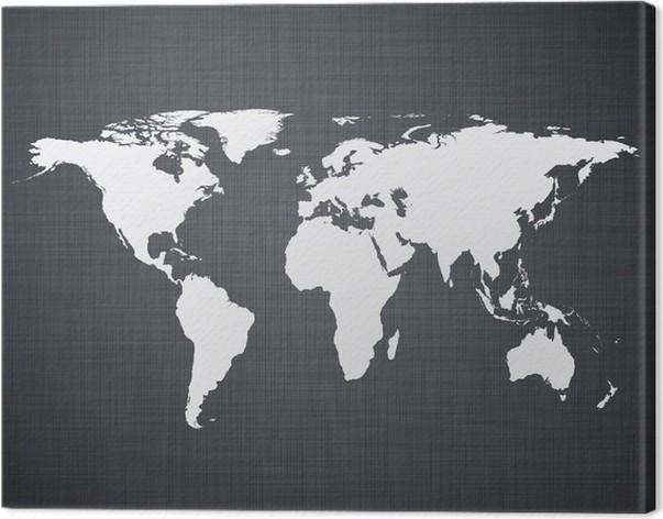 White world map canvas print white world map canvas print styles gumiabroncs Image collections