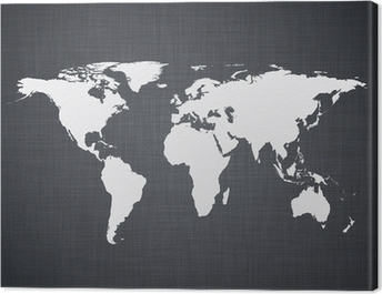 White world map. Canvas Print