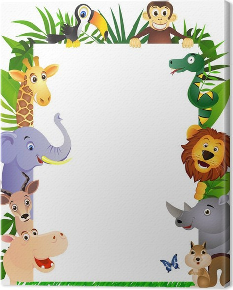 Wild animal frame Canvas Print • Pixers® • We live to change