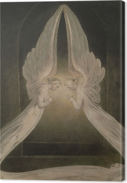 William Blake - Christ in the Sepulchre Canvas Print - Reproductions