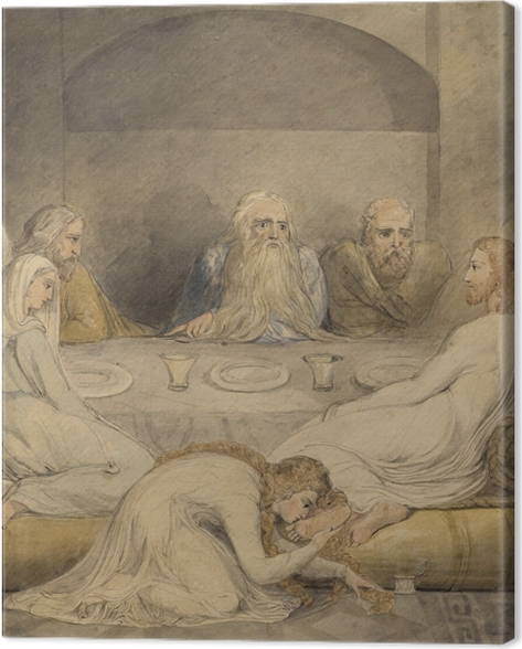 William Blake - Jesus Anointed by a Sinfil Woman Canvas Print - Reproductions