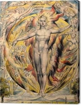 William Blake - Moses Canvas Print