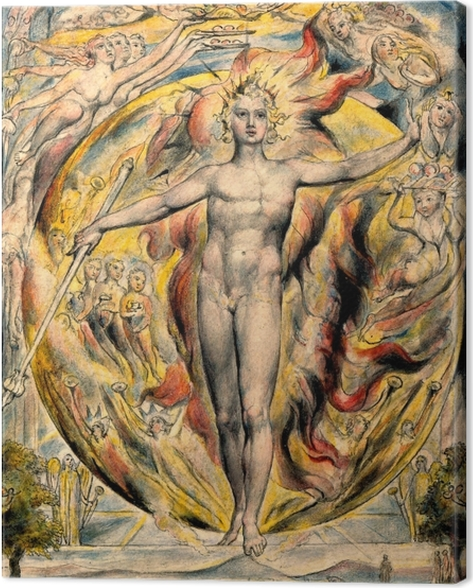 William Blake - Moses Canvas Print - Reproductions
