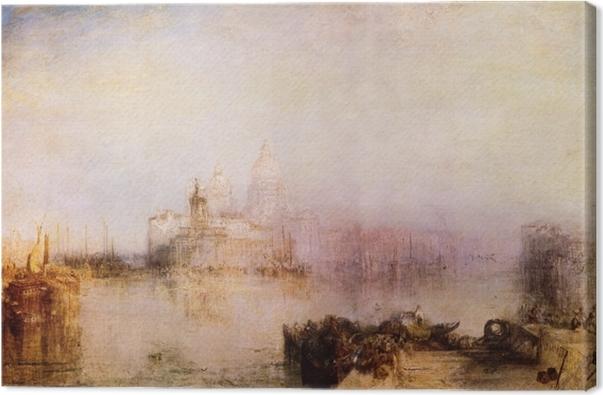 William Turner - Dogana and Madonna della Salute Canvas Print - Reproductions