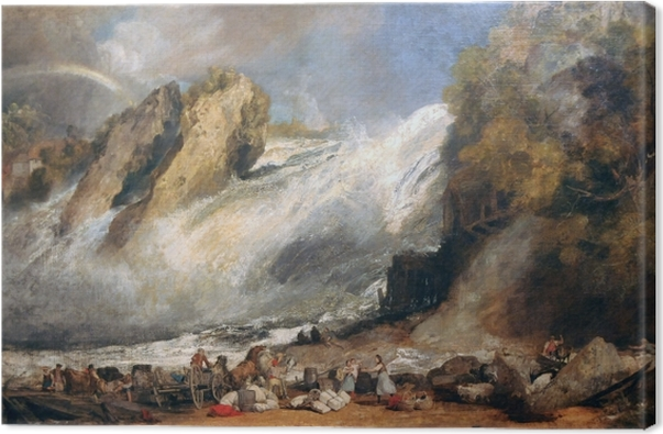 William Turner - Fall of the Rhine at Schaffhausen Canvas Print - Reproductions