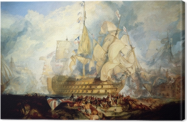 William Turner - The Battle of Trafalgar Canvas Print - Reproductions