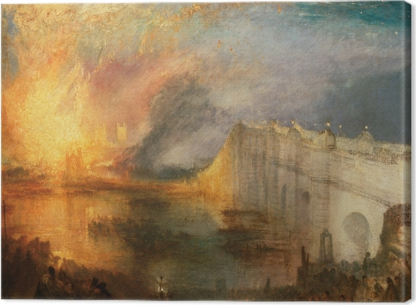 William Turner - The Burning of the Houses of Lords and Commons Canvas Print - Reproductions