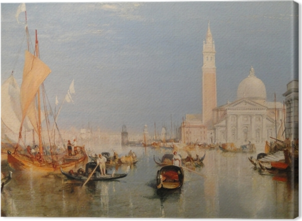 William Turner - The Dogana and San Giorgio Maggiore Canvas Print - Reproductions