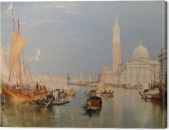 William Turner - The Dogana and San Giorgio Maggiore Canvas Print