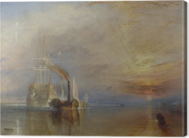 William Turner - The Fighting Temeraire Tugged to her Last Berth to be Broken Up Canvas Print - Reproductions