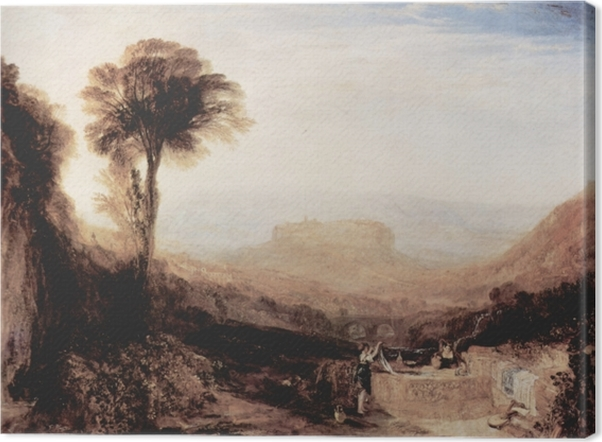 William Turner - View of Orvieto, Painted in Rome Canvas Print - Reproductions