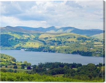 Windermere Lake District England uk sunny summer day Canvas Print