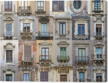 Windows from Sicily Canvas Print