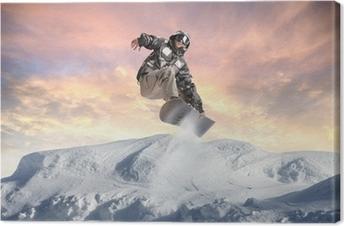 Winter acrobatics Canvas Print