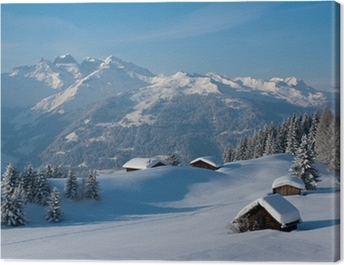 Winterlandschaft in den Bergen Canvas Print