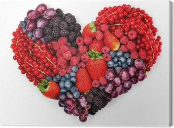 With love to berries. Canvas Print