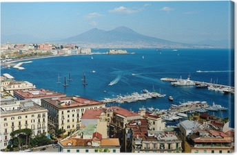 wonderful Naples panoramic view with Vesuvius Canvas Print