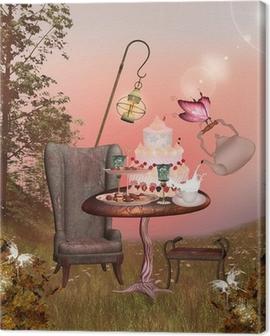 Wonderland series - birthday banquet Canvas Print