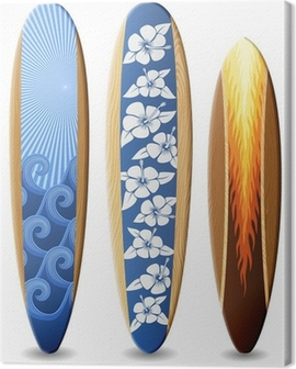 Wooden surfboards Canvas Print