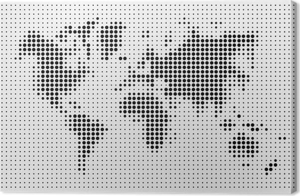 World map black dots atlas composition eps10 vector file canvas world map black dots atlas composition eps10 vector file canvas print gumiabroncs Gallery